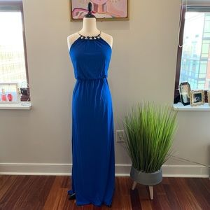 Lilly Pulitzer Blue Madi Dress with Gold Ball Neck